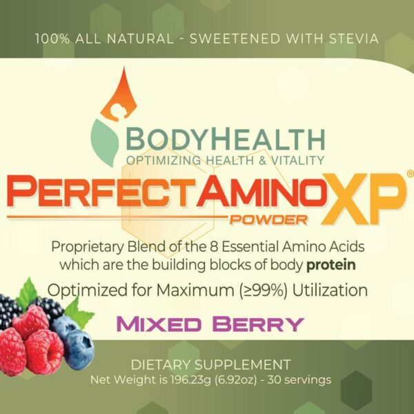 perfect-amino-xp-mixed-berry-essential-amino-acid-30-serving-label - Alma Supplements