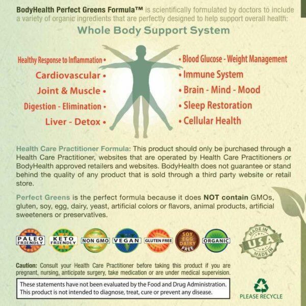 perfect-greens-organinc-superfood-powder-label - Alma Supplements