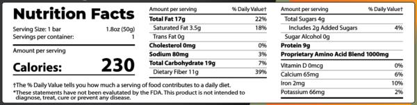 Alma Supplements - Protein Bar Ingredients Brownie