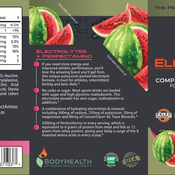Alma Supplements - PerfectAmino Electrolyte Packets - Watermelon Zen 3